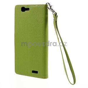 Zelené peňaženkové puzdro na Huawei Ascend G7 - 6