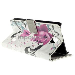 Peňaženkové puzdro Huawei Y635 - kvetinový vzor - 6
