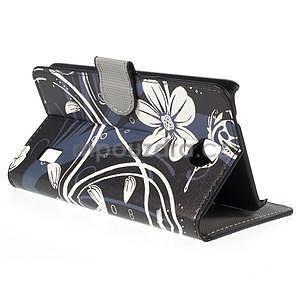 Zapínacie peňaženkové puzdro Huawei Y635 - biela kvetina - 6