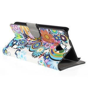 Zapínacie peňaženkové puzdro Huawei Y635 - farebné kvety - 6