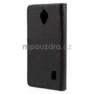 PU kožené čierne puzdro so zapínaním Huawei Y635 - 6