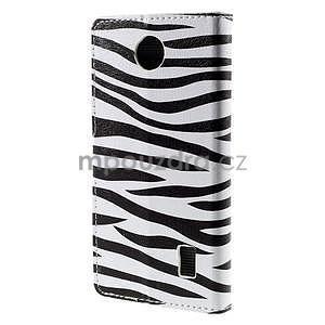 Peňaženkové puzdro na Huawei Y635 - zebra - 6