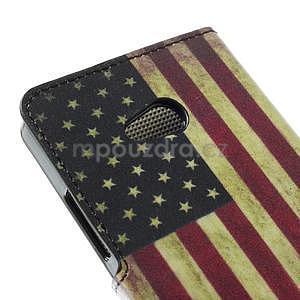 Peňaženkové puzdro na Microsoft Lumia 640 - vlajka USA - 6
