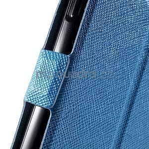 Klopové kožené puzdro na Samsung Galaxy A3 - modré - 6