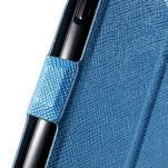 Klopové kožené puzdro na Samsung Galaxy A3 - modré - 6/7