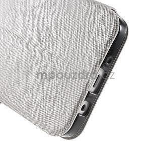 Klopové kožené puzdro na Samsung Galaxy A3 - biele - 6