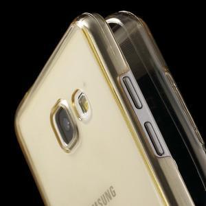 Gélový obal 2v1 pro zadní kryt a displej pre Samsung Galaxy A5 (2016) - zlatý - 6