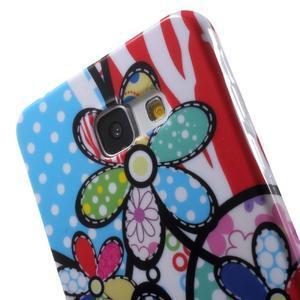 Obal s motívom pre mobil Samsung Galaxy A5 (2016) - malované kvety - 6