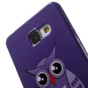 Obal s motivem na mobil Samsung Galaxy A5 (2016) - fialová sovička - 6