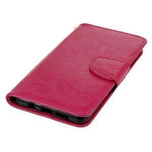 PU kožené puzdro pre mobil Samsung Galaxy A5 (2016) - rose - 6
