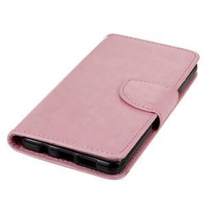 PU kožené pouzdro na mobil Samsung Galaxy A5 (2016) - růžové - 6
