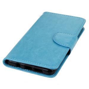 PU kožené pouzdro na mobil Samsung Galaxy A5 (2016) - modré - 6