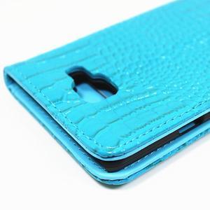 Croco peňaženkové puzdro Samsung Galaxy A5 (2016) - modré - 6