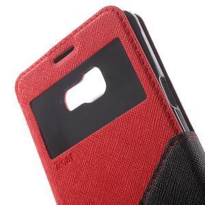 Peňaženkové puzdro s okienkom pre Samsung Galaxy A5 (2016) - červené - 6
