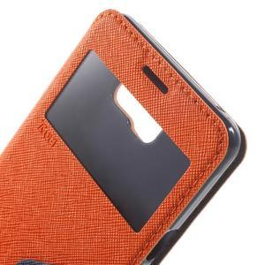 Peňaženkové puzdro s okienkom pre Samsung Galaxy A5 (2016) - oranžové - 6