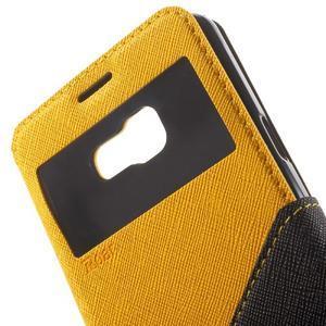 Peňaženkové puzdro s okienkom pre Samsung Galaxy A5 (2016) - žlté - 6