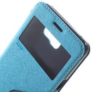 Peněženkové pouzdro s okýnkem na Samsung Galaxy A5 (2016) - světlemodré - 6