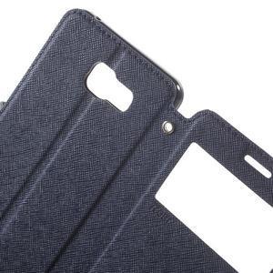 Peněženkové pouzdro s okýnkem na Samsung Galaxy A5 (2016) - tmavěmodré - 6