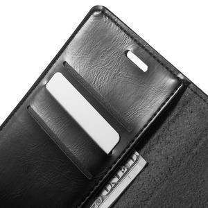 Moon PU kožené pouzdro na Samsung Galaxy A5 (2016) - černé - 6