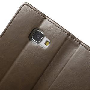Moon PU kožené puzdro pre Samsung Galaxy A5 (2016) - coffee - 6
