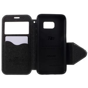 Diary puzdro s okienkom pre Samsung Galaxy S7 - biele - 6