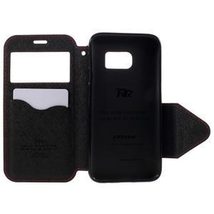 Diary puzdro s okienkom pre Samsung Galaxy S7 - červené - 6