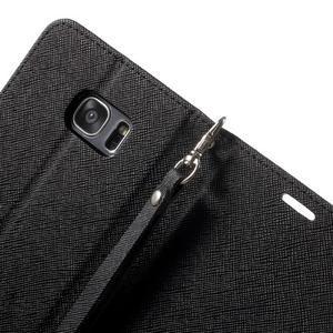 Mercury Orig PU kožené puzdro pre Samsung Galaxy S7 - čierne - 6