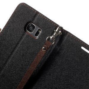 Mercury Orig PU kožené puzdro pre Samsung Galaxy S7 - čierne/hnedé - 6
