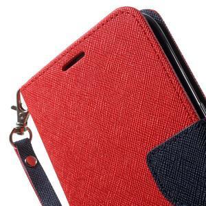 Mercury Orig PU kožené puzdro pre Samsung Galaxy S7 - červené - 6