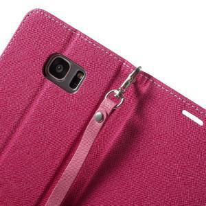 Mercury Orig PU kožené pouzdro na Samsung Galaxy S7 - rose - 6