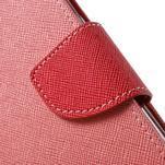 Mercury Orig PU kožené pouzdro na Samsung Galaxy S7 - růžové - 6/7