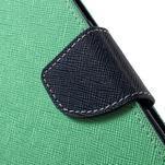Mercury Orig PU kožené puzdro pre Samsung Galaxy S7 - azúrové - 6/7