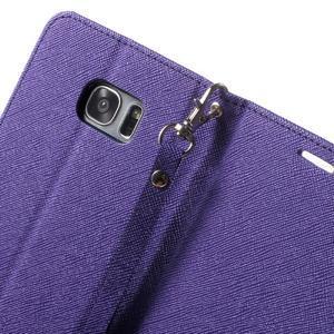 Mercury Orig PU kožené pouzdro na Samsung Galaxy S7 - fialové - 6