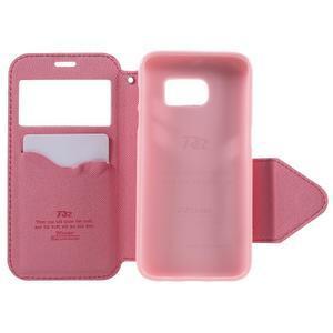 Diary pouzdro s okýnkem na Samsung Galaxy S7 - rose - 6