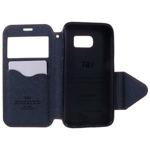 Diary puzdro s okienkom pre Samsung Galaxy S7 - oranžové - 6