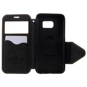 Diary puzdro s okienkom pre Samsung Galaxy S7 - žlté - 6