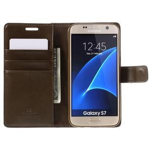 Moon PU kožené pouzdro na mobil Samsung Galaxy S7 - coffee - 6