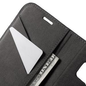 Leat PU kožený obal pre Samsung Galaxy S7 - čierný - 6