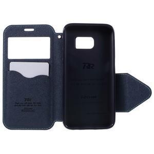 Diary puzdro s okienkom pre Samsung Galaxy S7 - svetlomodré - 6