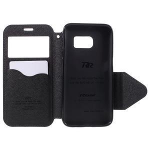 Diary puzdro s okienkom pre Samsung Galaxy S7 - tmavomodré - 6
