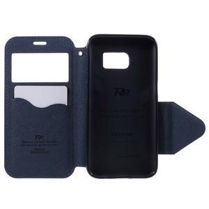 Diary pouzdro s okýnkem na Samsung Galaxy S7 - fialové - 6