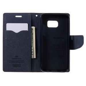 Goosper PU kožené pouzdro na Samsung Galaxy S7 - červené - 6