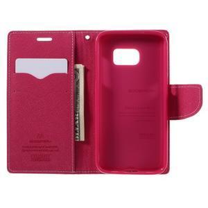 Goosper PU kožené puzdro pre Samsung Galaxy S7 - ružové - 6