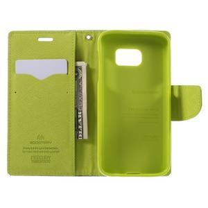 Goosper PU kožené puzdro pre Samsung Galaxy S7 - tmavomodré - 6
