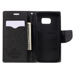 Goosper PU kožené puzdro pre Samsung Galaxy S7 - hnedé - 6