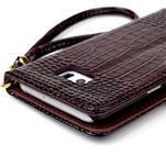 Croco styl peňaženkové puzdro pre Samsung Galaxy S7 - hnedé - 6/6