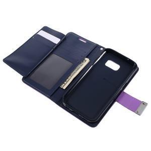 Luxury PU kožené puzdro pre Samsung Galaxy S7 - fialové - 6