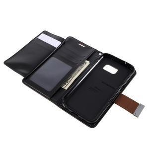 Luxury PU kožené pouzdro na Samsung Galaxy S7 - hnědé - 6