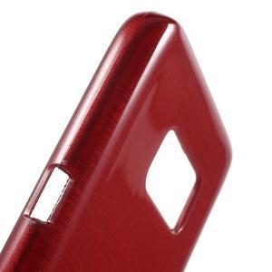 Brush gélový obal pre mobil Samsung Galaxy S7 - červený - 6