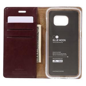 Bluemoon PU kožené pouzdro na mobil Samsung Galaxy S7 - tmavěčervené - 6